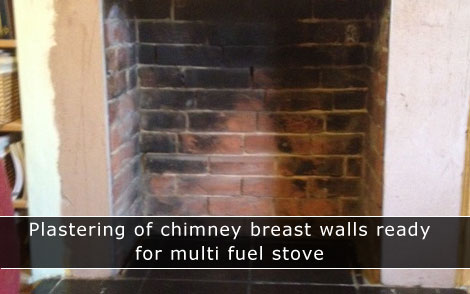 Plastering chimney breast in Southampton, Winchester, Eastleigh, Hedge End, Lyndhurst and local areas